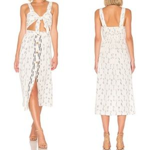 Free People Caldasi Cotton Cream Midi Dress Medium